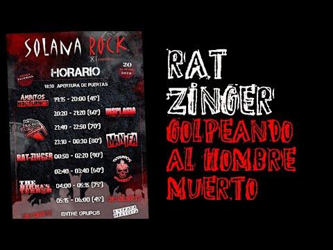 RAT-ZINGER -Golpeando al hombre muerto [BATERIA] 🔥SOLANA ROCK 2019🔥 #eldirectomasanimal #ratzinger