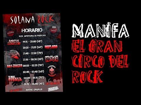 MANIFA -El gran circo del rock 🔥#SOLANA ROCK 2019🔥 #eldirectomasanimal #manifa